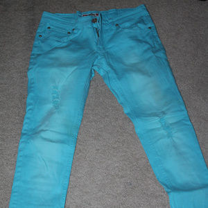 Denim - What About Me 7/8 Turquoise Jeans ⭐️⭐️⭐️⭐️⭐️